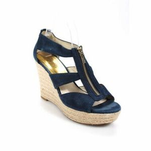 Michael Kors Damita Denim Espadrille Wedges.